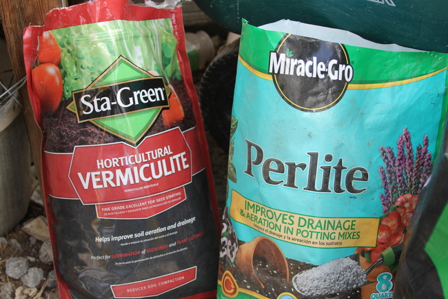 It's important to start seeds and transplants off with a good growing mix. these additives help with drainage and moisture retention. https://theblondegardener.com/2018/03/11/how-to-start-tomatoes-from-seed/